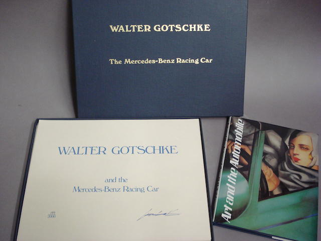 A limited edition boxed set of Walter Gotschke 'The Mercedes-Benz Racing Car' and Tubbs: 'Art and the Automobile',