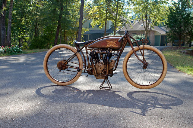"One of a handful of surviving Big X's,1916 Excelsior ""Big Valve X"" Board-Tracker Frame no. 140000A1202 Engine no. A1208"