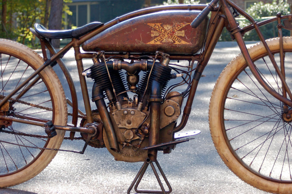 """One of a handful of surviving Big X's,1916 Excelsior """"Big Valve X"""" Board-Tracker Frame no. 140000A1202 Engine no. A1208"""