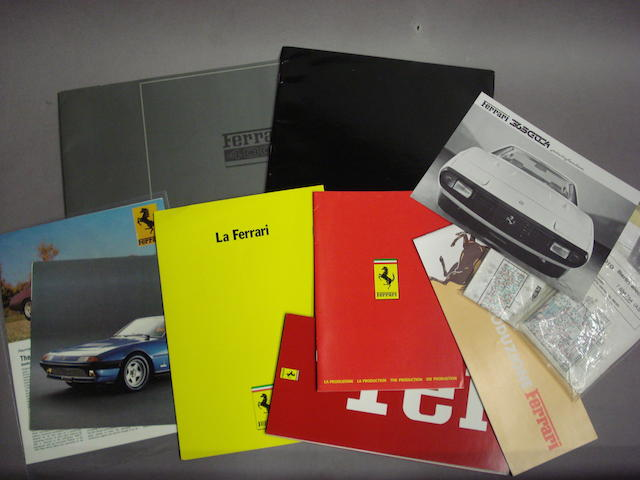 A selection of Ferrari 400i sales literature,