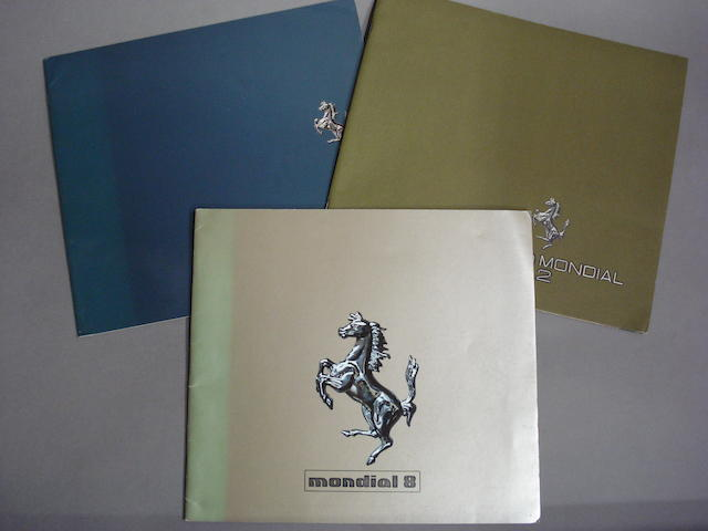 Three Ferrari Mondial sales brochures,