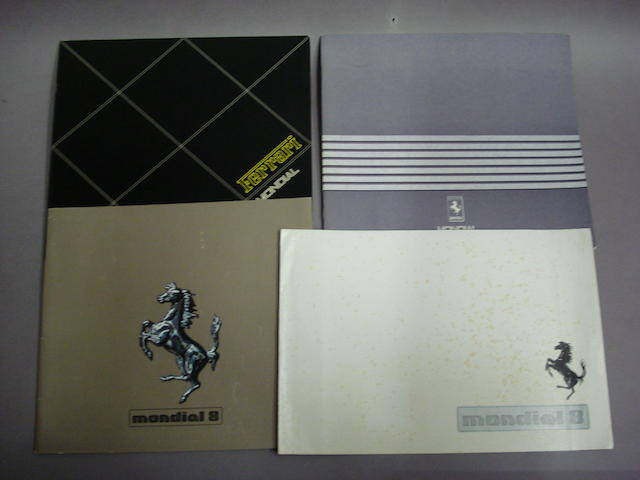 Four Ferrari Mondial sales brochures,
