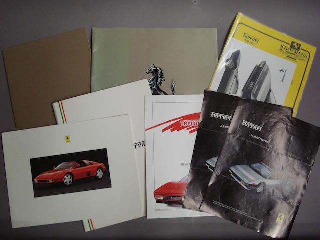 A selection of Ferrari Mondial sales brochures,