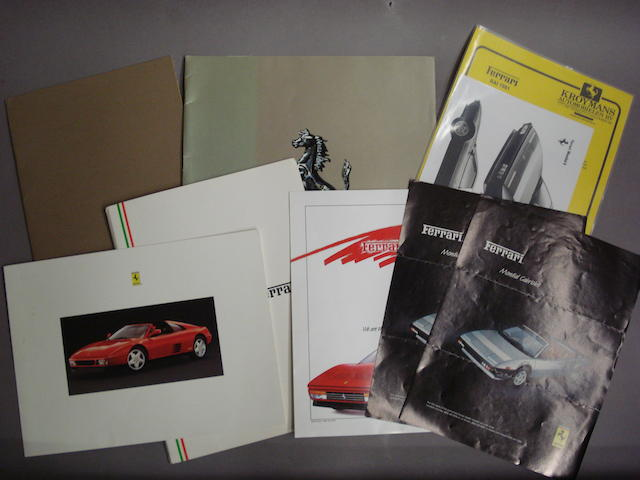 A selection of Ferrari Mondial sales brochures,