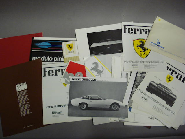 A selection of Maranello Concessionaires leaflets and sales literature,