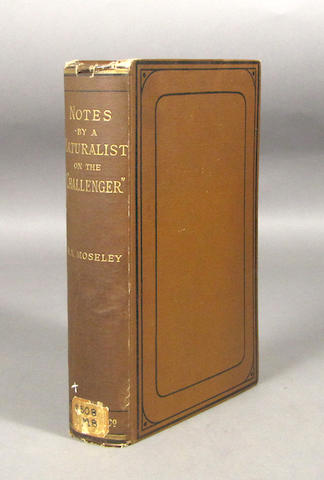 "MOSELEY, HENRY NOTTIDGE. Notes by a Naturalist on the ""Challenger"" Being an Account of Various Observations.... London: Macmillan and Co, 1879."