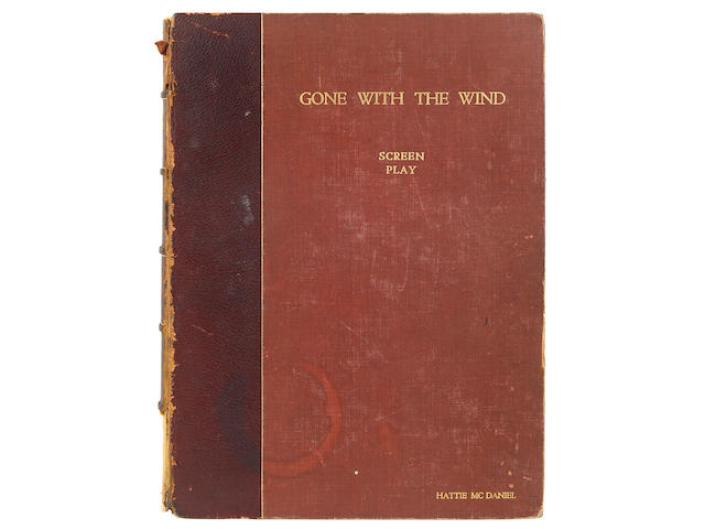 "A Hattie McDaniel personally-owned 'presentation copy' script signed and gifted to her by David O. Selznick from ""Gone With The Wind"""