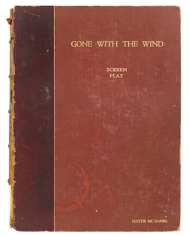 """A Hattie McDaniel personally-owned 'presentation copy' script signed and gifted to her by David O. Selznick from """"Gone With The Wind"""""""