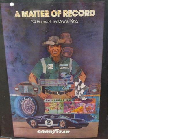 A 'Matter of Record' Goodyear poster, 34 x 22in.