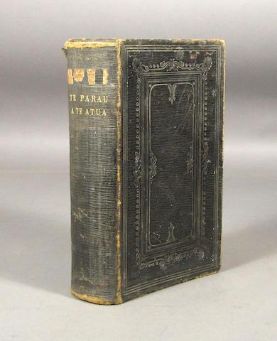Bonhams Tahitian Bible Te Bibilia Mo A Ra Oia Te Faufaa Tahito E Te Faufaa Api Ra Iritihia Ei Parau Tahiti London Neia E Spottiswoode Ma 1863
