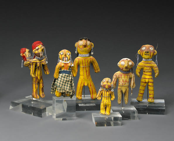 A grouping of Mojave figures