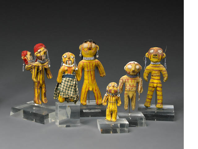 A grouping of Mohave figures