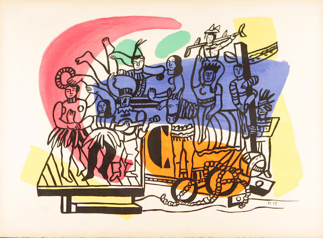 After Fernand Leger La Grande Parade, c. 1954, (not in Saphire) Color lithograph;
