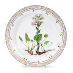 A Royal Copenhagen Flora Danica porcelain round serving dish <br>date code for 1937