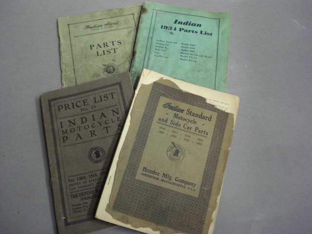 Four Indian parts brochures,
