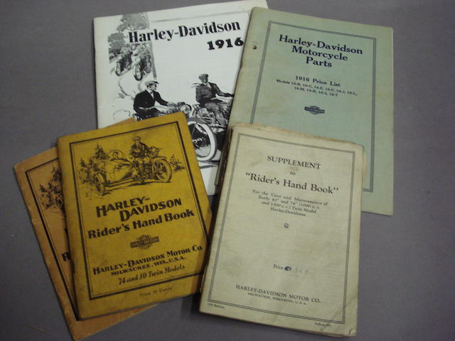 A good selection of Harley Davidson technical literature,