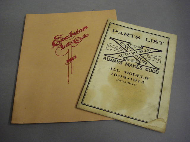 An Excelsior Auto:Cycle 1911 range brochure,
