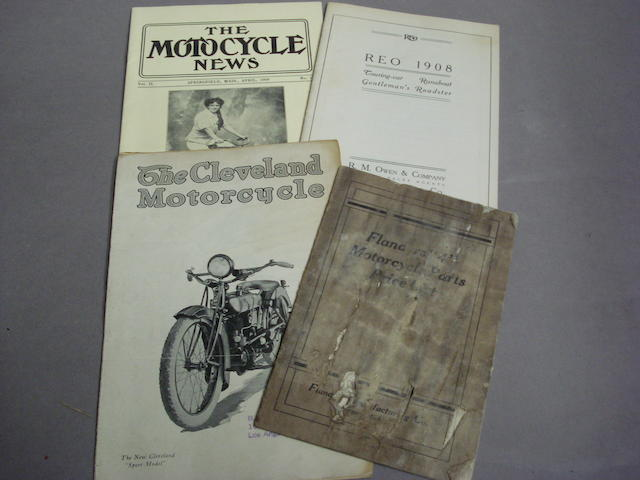 The Cleveland Motorcycle 'Sport Model' sales leaflet,