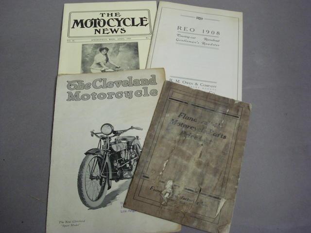 The Cleveland Motorcycle 'Sport Model' sales leaflet,