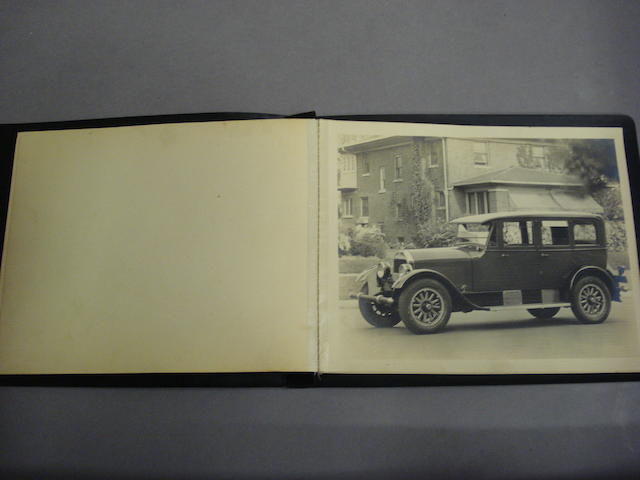 An album of Stutz promotional photographs,