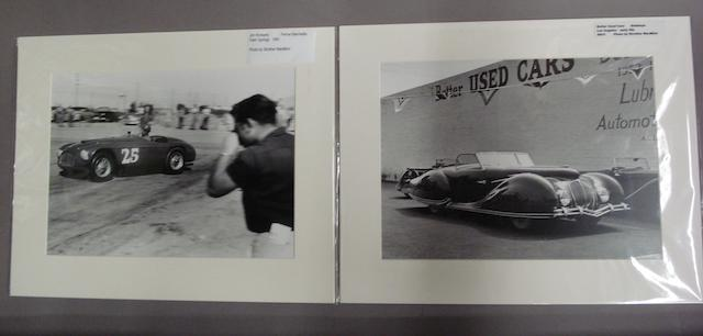 Two early 1950s monochrome motoring photographs by Strother MacMinn,