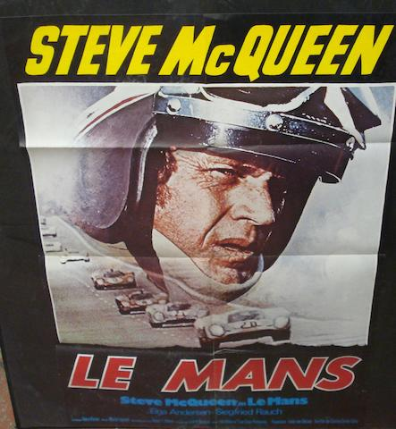 A Steve McQueen Le Mans film poster, German edition,