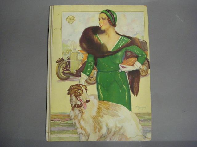 An original Shell advertising poster, 1920s,