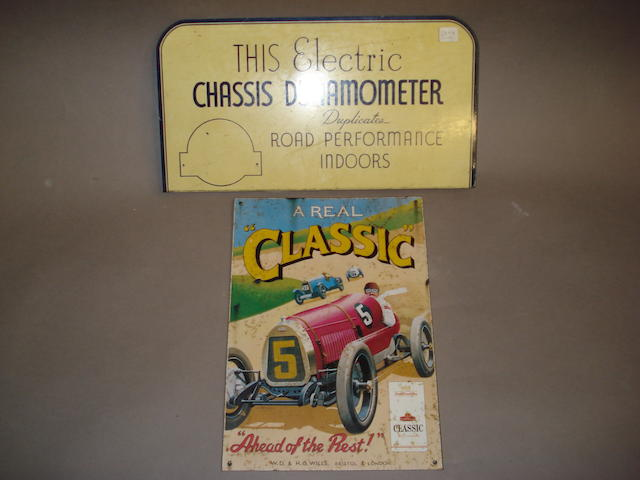 Two motoring advertising tin signs,