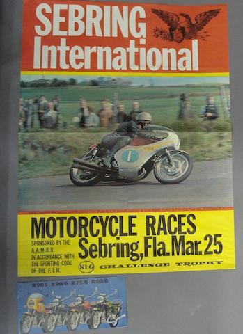 A Sebring International Motorcycle Races poster, 1960s,