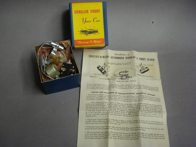 An original 'Electronic Brain' Automobile Burglar Alarm,