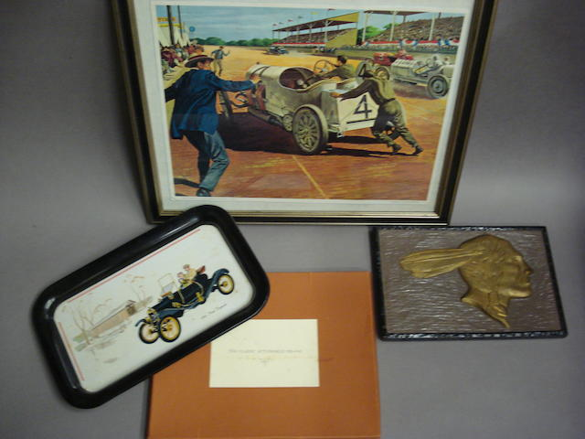 A selection of decorative automobilia,