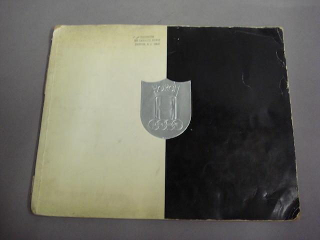 A Horch Auto Union sales brochure, 1936,