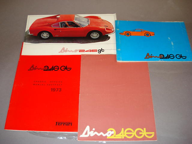 A good selection of Dino 246GT sales and technical literature,