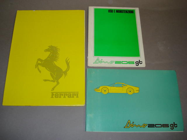 A selection of Dino 206 GT literature,
