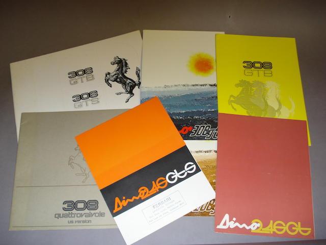 A good selection of Ferrari Dino sales literature,