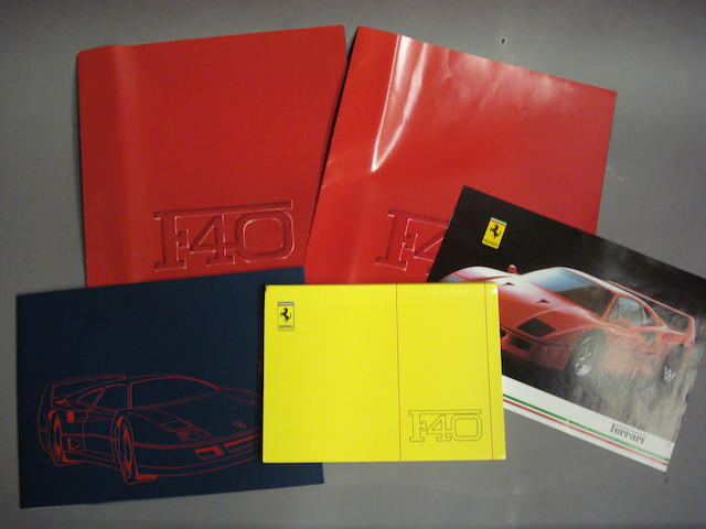 A lot of Ferrari F40 literature,