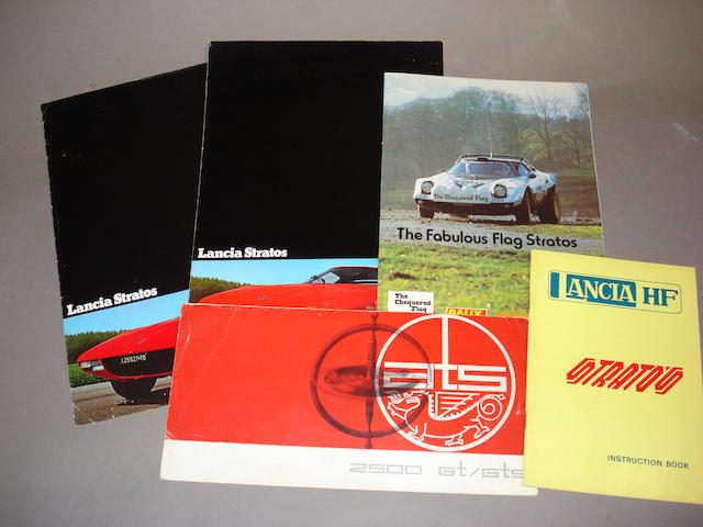 A small selection of Lancia Stratos literature,