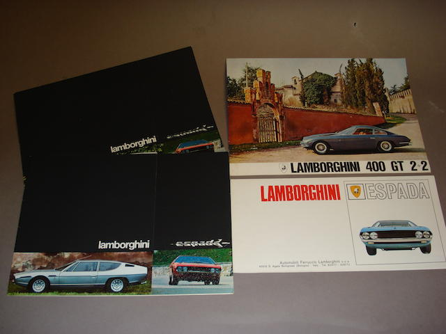 A good original Lamborghini 400GT 2+2 sales brochure,