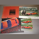 A good selection of original Lamborghini Miura literature,