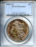 1889-CC $1 Genuine PCGS