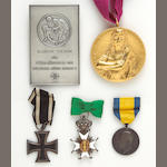 An assortment of bestowed medals and awards
