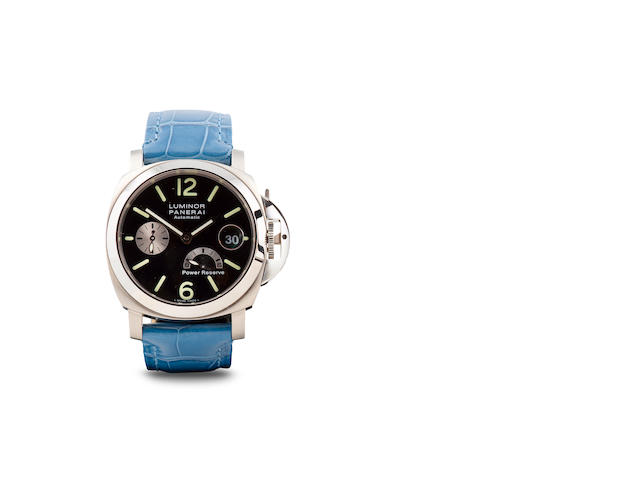 "A ""Panerai"" stainless steel watch"