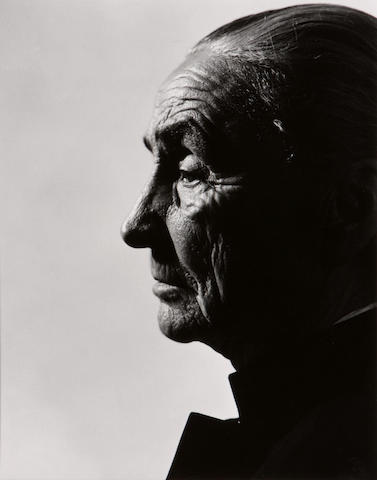 Philippe Halsman (American, 1906-1979); Two Georgia O'Keeffe Portraits; (2)