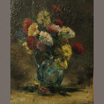 French School A still life with flowers 6 x 5 1/4in