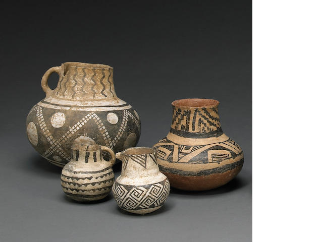 Four Anasazi vessels