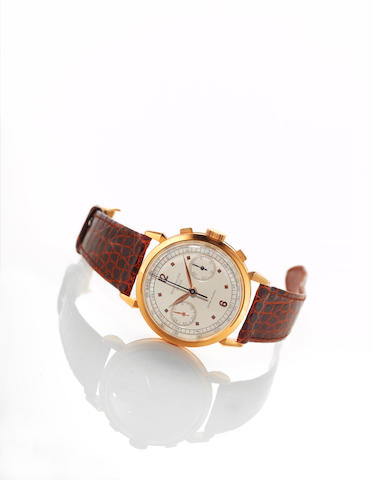 A very fine and rare 18k rose gold watch chronograph