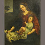 Italian School, 19th Century The Madonna and Child  27 x 21 3/4in