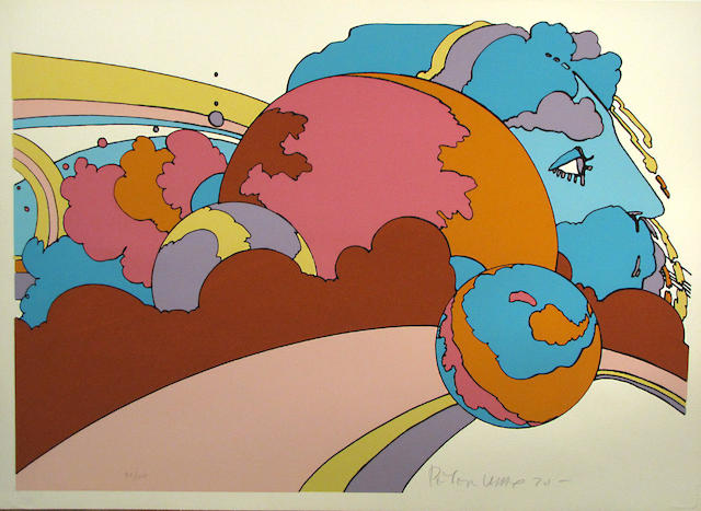 Peter Max (German/American, born 1937); Astral World Watcher;