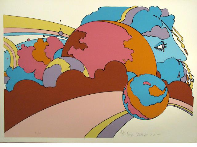 Peter Max (German/American, born 1937); **Astral World Watcher;