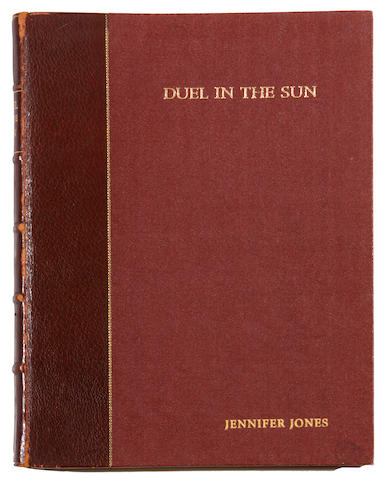 "A Jennifer Jones owned 'presentation copy' script signed and gifted to her by David O. Selznick from ""Duel in the Sun"""